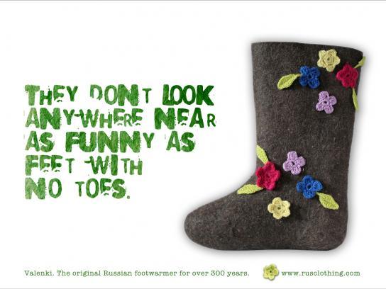 Valenki Print Ad -  Toes