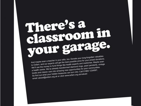 Oxfam Print Ad -  Classroom
