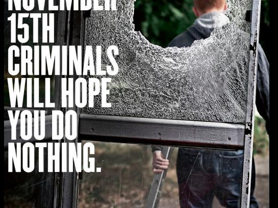 Police & Crime Commissioner Print Ad -  Vandal