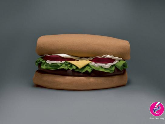 Vanish Print Ad -  Hamburger