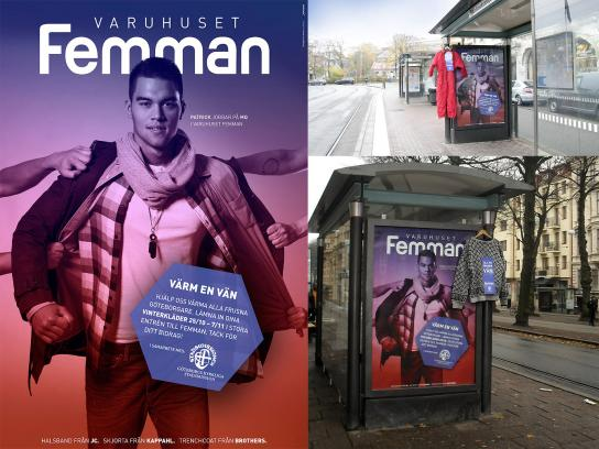 Varuhuset Femman Outdoor Ad -  Keep a Friend Warm