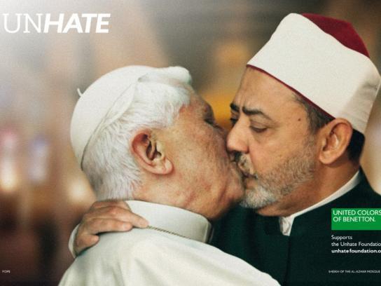 Benetton Print Ad -  Unhate, Vatican-Al Azhar