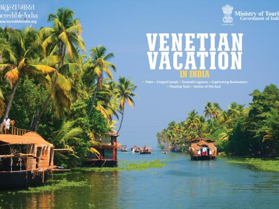 Incredible India Print Ad -  Venetian Vacation