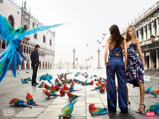 Diesel Print Ad -  Global Warming, Venice