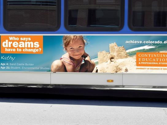University of Colorado Outdoor Ad -  Bus board, 1