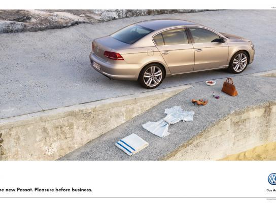 Volkswagen Print Ad -  Beach