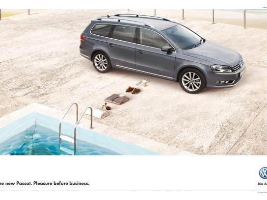 Volkswagen Print Ad -  Pool