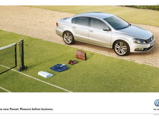Volkswagen Print Ad -  Tennis