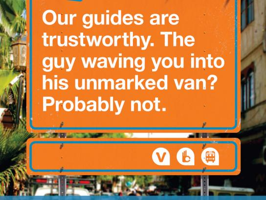 Viator Outdoor Ad -  Unmarked van