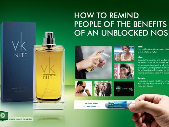 Vick Ambient Ad -  Vick Fragrance Test