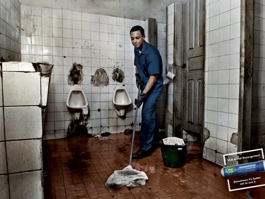 Vick Print Ad -  Toilet