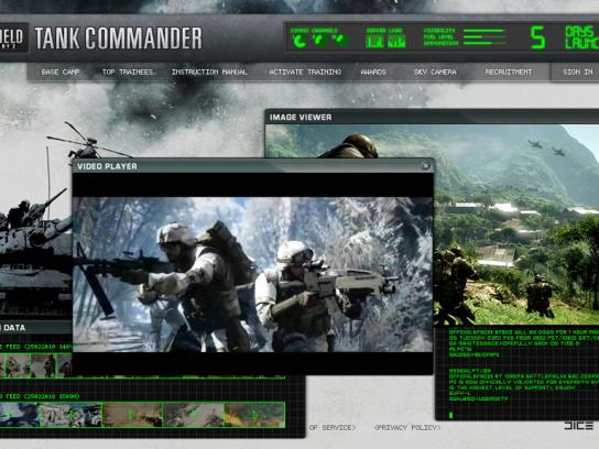 Battlefield Digital Ad -  Tank Commander