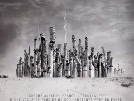 Comité National Contre le Tabagisme Print Ad -  City of Ashes