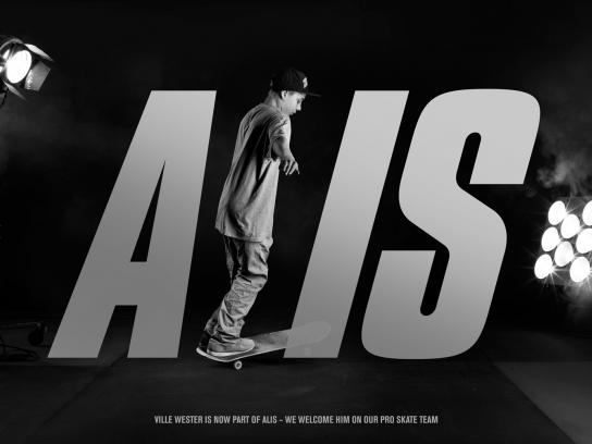 Alis Print Ad -  Ville Wester is now part of Alis