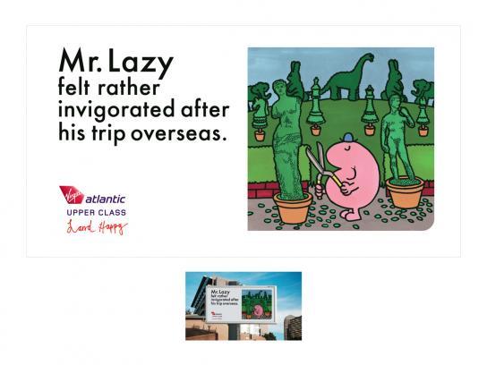 Virgin Print Ad -  Mr Lazy