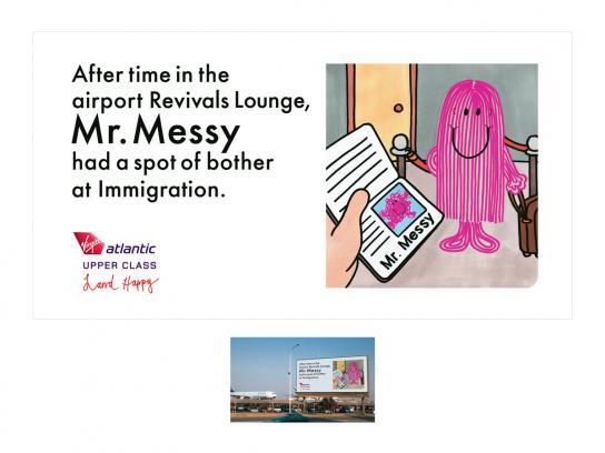 Virgin Print Ad -  Mr Messy