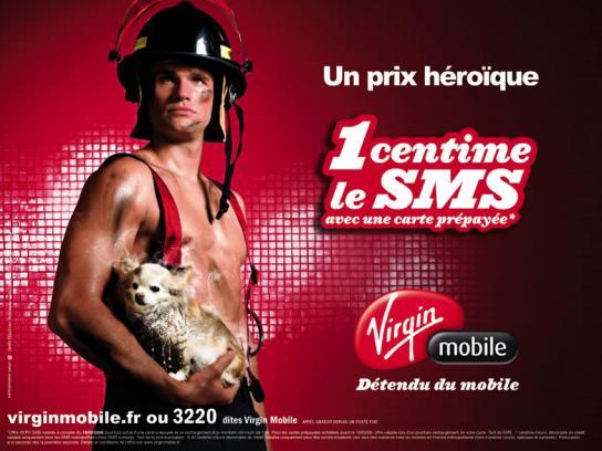 Virgin Print Ad -  Fireman