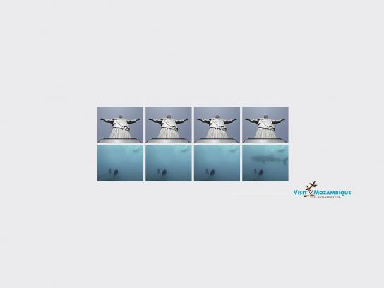 Visit Mozambique Print Ad -  Whale