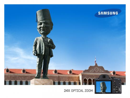 Samsung Print Ad -  Optical Zoom, Statue