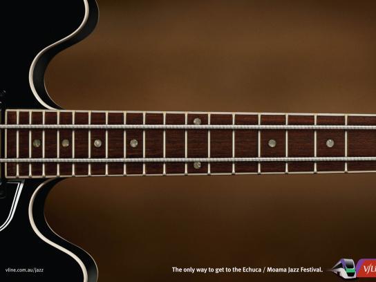 V/Line Print Ad -  Guitar