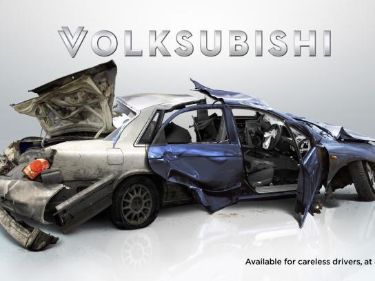 Road Safe Hawkes Bay Print Ad -  Volksubishi