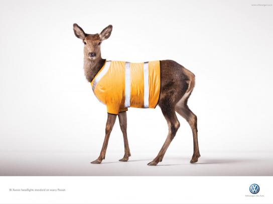 Volkswagen Print Ad -  Deer
