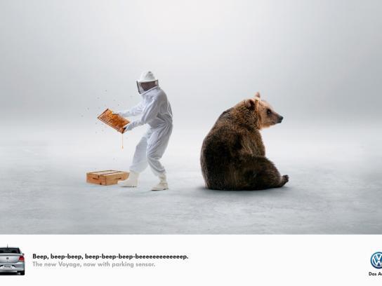 Volkswagen Print Ad -  Beep-beep, 3
