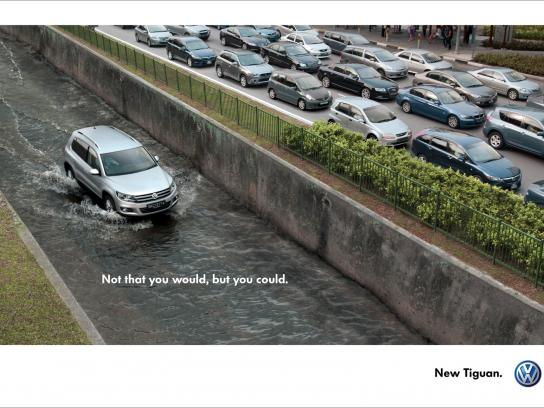 Volkswagen Print Ad -  Not that you would, but you could