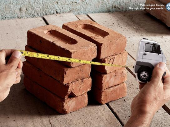 Volkswagen Print Ad -  Right size for your needs, Bricks