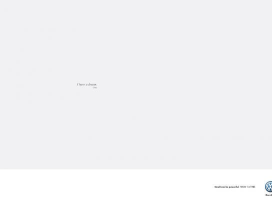 Volkswagen Print Ad -  King