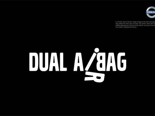 Volvo Print Ad -  Safety Features, Dual airbag