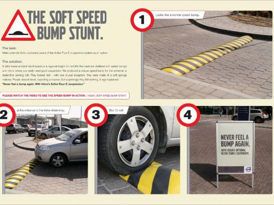 Volvo Ambient Ad -  Speed bump