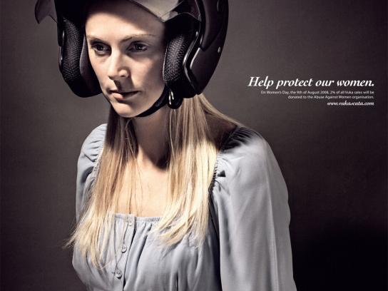 Vuka Scuta Print Ad -  Helmet