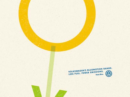 Volkswagen Print Ad -  Flower