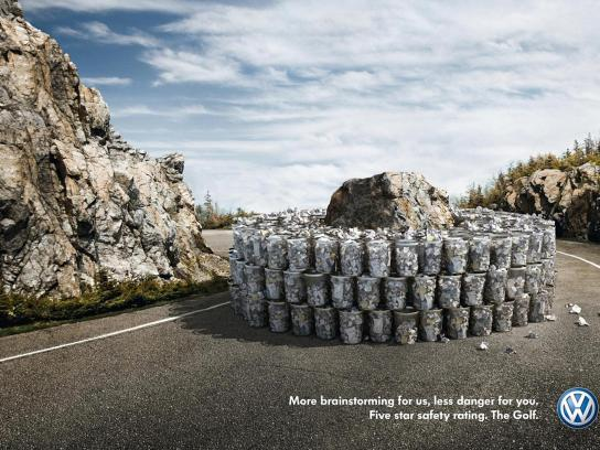Volkswagen Print Ad -  Rock