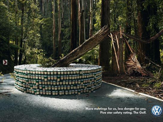 Volkswagen Print Ad -  Tree
