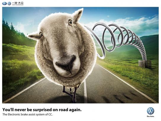 Volkswagen Print Ad -  Sheep