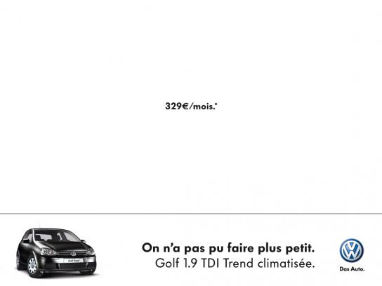 Volkswagen Print Ad -  Discount