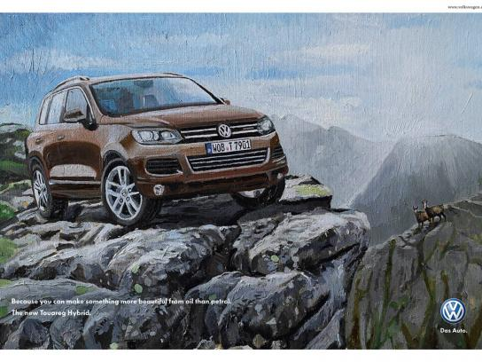 Volkswagen Print Ad -  Oil Painting