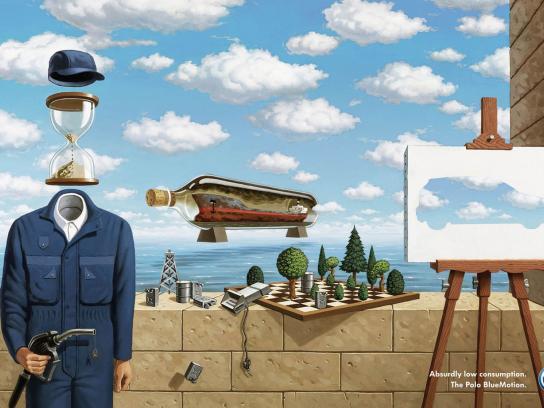 Volkswagen Print Ad -  Magritte
