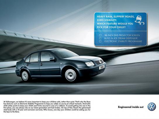 Volkswagen Print Ad -  Bora signs