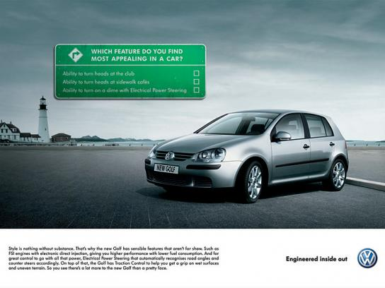Volkswagen Print Ad -  Golf signs