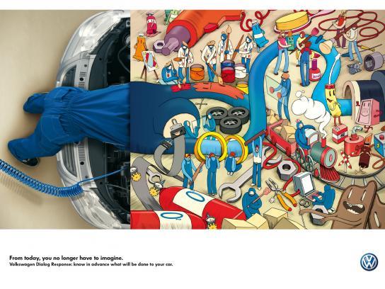 Volkswagen Print Ad -  Imagination