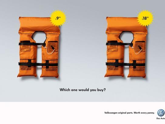Volkswagen Print Ad -  Life Jacket