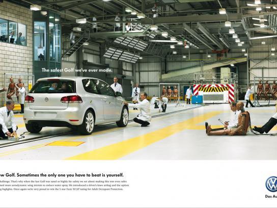 Volkswagen Print Ad -  Crash test