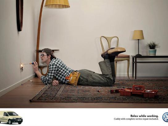 Volkswagen Print Ad -  Electrician
