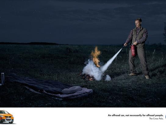 Volkswagen Print Ad -  Fire