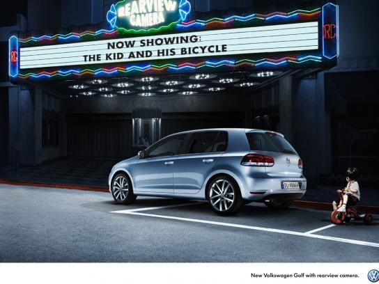 Volkswagen Print Ad -  Rearview camera