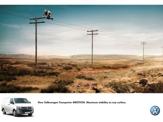 Volkswagen Print Ad -  Stability