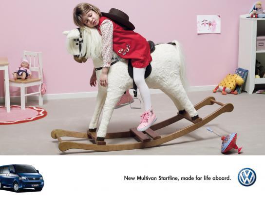 Volkswagen Print Ad -  Rocking Horse